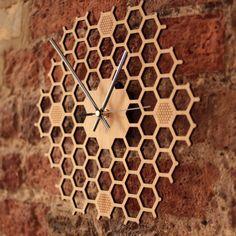 Creative Hexagon log honeycomb wall clock rural natural Wall hanging clock Home Decorations farmhouse decor wall watch - 2020 Home Decor Trends Wall Clock Gift, Hanging Clock, Wall Watch, Bamboo Wall, Bamboo Bathroom, Cool Clocks, Unique Wall Clocks, Wall Clock Design, Design Moderne