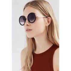 Maxine Round Sunglasses ($18) ❤ liked on Polyvore featuring accessories, eyewear, sunglasses, black, black glasses, vintage style sunglasses, round frame sunglasses, round sunglasses and round frame glasses