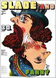 Slade - Slayed 1972 - Poster Plakat Konzertposter