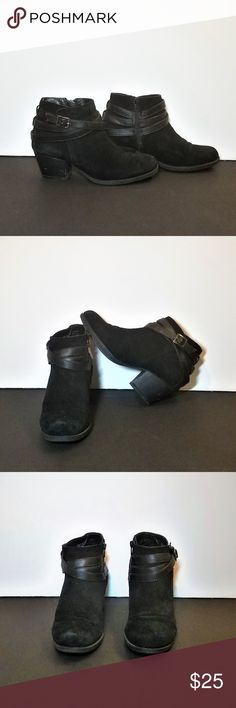 Sonoma black booties Super cute and versatile black booties with ankle straps. Very comfortable. Sonoma Shoes Ankle Boots & Booties