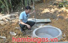 Lắp đặt hầm biogas composite