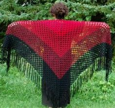 "Free pattern for ""Flame and Ember Shawl"""