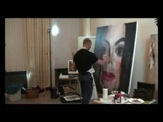 Damn...Sebastian Krüger paints Michael Jackson. An awe inspiring video montage of Sebastian Krüger's live painting demonstration to a group of artists attending his 2009 Krüger Art Workshop.