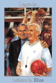 UNC Tar Heels Basketball Team Coaches Roy Williams and Dean Smith Art Posters