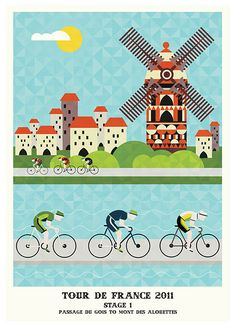 Tour de France poster. love the cut outy feel.