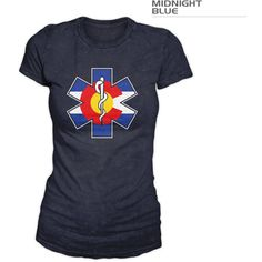 Women's Colorado Flag Medic Shirt Rn Paramedic Emt (28 CAD) ❤ liked on Polyvore featuring tops, t-shirts, black, women's clothing, shirt top, holiday t shirts, evening tops, tee-shirt and holiday shirts