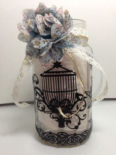 Anything Goes Altered Mason Jar - Scrapbook.com