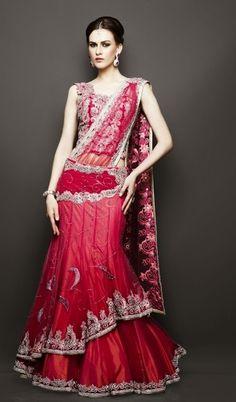 Indian Bridal Wear Trends 2014 | Indian Wedding Dresses | Stylespoint.com Indian Wedding Gowns, Indian Bridal Wear, 2015 Wedding Dresses, Dresses 2013, Indian Gowns, Desi Wedding, Indian Outfits, Bridal Dresses, Indian Weddings