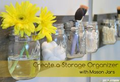 Create a Storage Organizer with Mason Jars