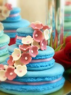 "Ohhh myyyy goodness! A macaroon cake! These scrumptious little brightly colored cookies stole my heart in Paris...and now in cake form...what's a girl to do?? I do have a ""big"" b-day this year -hint hint! Lol"