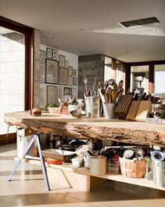 tree slice counter top
