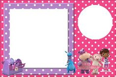 Free Doc Mcstuffins invitation template! This site has a whole bunch more printable goodies! And did I mention they are free!!!!!!!!!!!