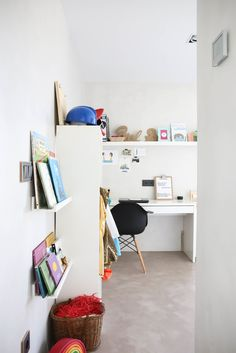 Nacho & Lorena's Modern Home on the Spanish Coast Kids On The Block, Apartment Therapy, Apartment Ideas, Kid Spaces, Boy Room, House Tours, Beautiful Homes, Room Decor, Shelves