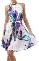 Amazon.com: AA632 - 2-Tone Tie Dye Sleeveless Smocked Top Guazy Long Dress - Blue/One Size: Clothing