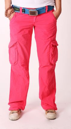 Old Cotton Cargo Woman Cargo Pant Pink    Old Cotton Cargo Bayan Pembe Kargo Pantolon