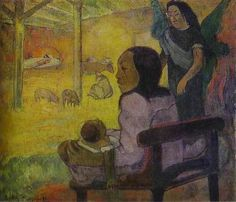 Baby (aka The Nativity) 1896 | Paul Gauguin | oil painting