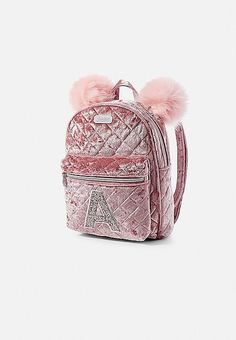 f7870fb87e9d Velvet Quilted Initial Mini Backpack   Justice Женские Рюкзаки, Школьные  Рюкзаки, Рюкзак Кошелек,
