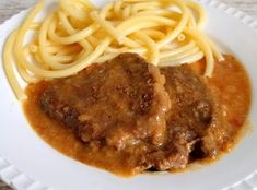Spaghetti, Food And Drink, Beef, Ethnic Recipes, Nicu, Steaks, Fitness, Fish Dishes, Noodles