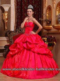Rotes Bustie Sissi Kleid Ballkleid Brautkleid
