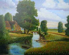 Nach dem Üben mit kleineren Gemälden hier mein erstes größeres Werk.