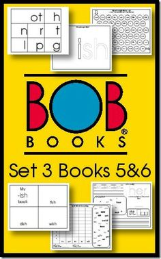 BOB Books Free Printables Set 3 Books 5 and 6