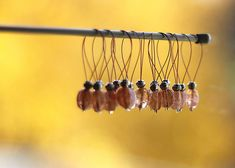 I need to make some of these stitch markers for myself. Might work better than the tiny ponytail holders I am using now.