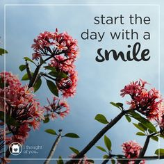 Start the day with a smile. #ithoughtofyou #spreadhope
