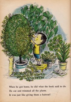The Plant Sitter by Gene Zion, illustrated by Margaret Bloy Graham.