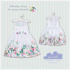 A flor e o colibri . Estampado em tecidos nobres e leves !! 🌸 #miobebe #primavera #verão #modainfantil #moda #infantil #boutique #marcainfantil #grife #vestido #festa #floral #organza #tafetá #estampado #instakids #fashion #kids