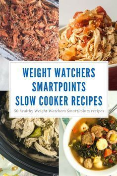 Fifty Weight Watchers SmartPoints Slow Cooker Recipes for an effortless dinner that your family will love. Recipes for chicken, beef, pork, vegetarian meals, and more from Slender Kitchen. Healthy Slow Cooker, Healthy Cooking, Slow Cooker Recipes, Healthy Eating, Crockpot Meals, Weight Watcher Crockpot Recipes, Cooking Tips, Stay Healthy, Easy Cooking
