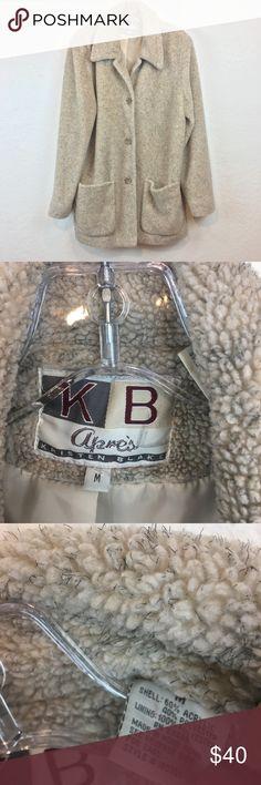 7e10a67477e3 Kristen Blake Apres Cream Plush faux Sherpa Jacket Brand  Kristen Blake  Apres Size  womens