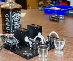 This Arduino Pump Tutorial is known as the ShotBot Project, demonstrating an easy way to build a simple shot pouring robot. We use two RobotGeek Pumping stations and some quick code to create a dual shot pouring robot. This project uses buttons to trigger the pouring as a basic example, but the buttons could be replaced with more advanced sensors, such as switches, light sensors, or IR sensors. You can follow the directions here, or find this project on the RobotGeek Learn site in two parts…