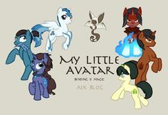 avatar the last airbender as mlp - Google Search