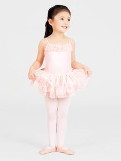 Disney Princess Little Girls Ballet Belle Pink Leotard Tutu /& Tights 6X
