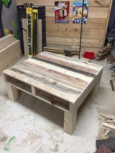 Pallet Coffee Table From Reclaimed #Wood | 99 Pallets
