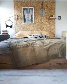Bedroom Bed Wood Nordic Boho