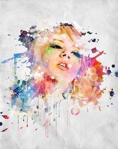 Miss Mosh inspired art