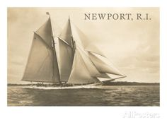 Gaff-Rigged Schooner, Newport, Rhode Island Kunstdrucke bei AllPosters.de