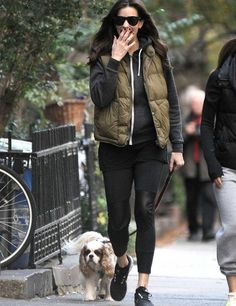 Liv Tyler takes her dog Neal for a walk in New York.
