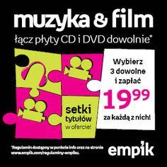 Ułóż swoje muzyczno-filmowe puzzle! Dowolnie miksujesz setki produktów i przy zakupie trzech, za każdy płacisz tylko 19,99 zł :)