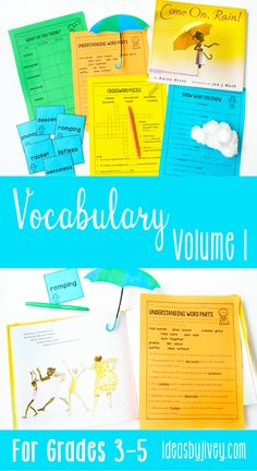 Teaching vocabulary in elementary school can be highly engaging! Click the pin the check out this amazing bundle of vocabulary activities that teach vocabulary using mentor texts and learning vocabulary through text incorporation. Perfect for 3rd, 4th, and 5th grade!