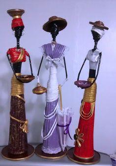 Hecho a mano                         Estas Muñecas africanas las puedes colocar en cualquier rincón de tu hogar. Están totalmente elaborad...