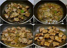 εύκολη τηγανιά με χοιρινό - η συνταγή του ένδοξου μεζέ Pork, Cooking Recipes, Beef, Ethnic Recipes, Pork Roulade, Pigs, Chef Recipes, Recipes