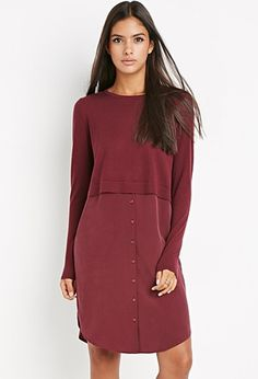 Contemporary Genuine Silk Combo Dress