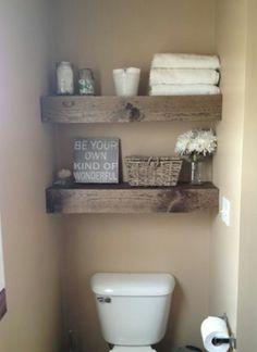 DIY Shelves Easy DIY Floating Shelves for bathroom,bedroom,kitchen,closet DIY bookshelves and Home Decor Ideas - Rustic Home Decor Diy Diy Closet, Shelves, Home Projects, Diy Shelves Easy, Wooden Floating Shelves, Bathroom Makeover, Small Bathroom, Home Diy, Bathroom Decor