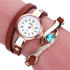 Fashion Watches Eye Gemstone Luxury Watches Women Gold Bracelet Watch Female Quartz Wristwatches Montre Feida Girl Dress Clock