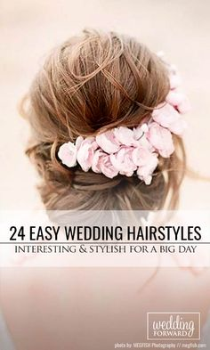24 Stylish Easy Wedding Hairstyles ❤ You can choose stylish easy wedding hairstyles from our sharing pictures depending upon type of hair texture, length and face cut. See more: http://www.weddingforward.com/easy-wedding-hairstyles/ #weddings #hairstyles