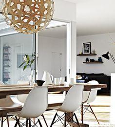David Trubridge Coral light + Mark Tuckey dining table