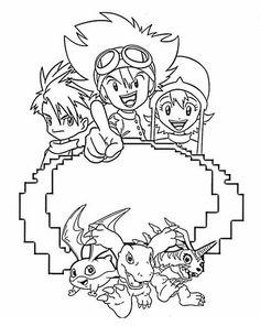 Digimon Tegninger til Farvelægning. Printbare Farvelægning for børn. Tegninger til udskriv og farve nº 48
