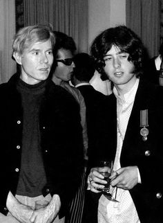 Jimmy Page with Andy Warhol